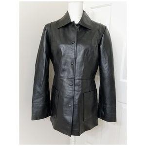 CHADWICK'S black leather blazer.